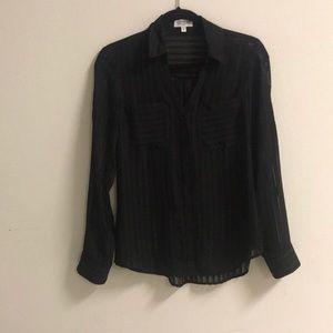 Express Black Sheer Portofino Slim Fit 🌟